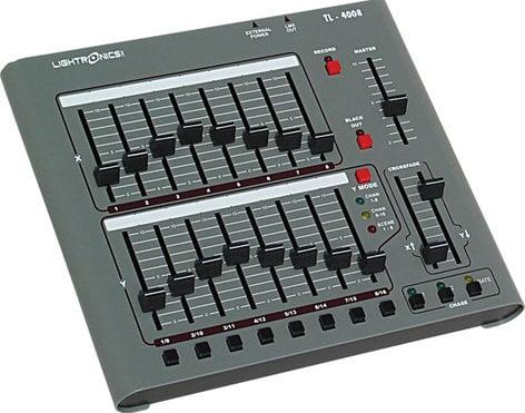 Lightronics Inc. TL4008-DMX01 120V 16 Channel Lighting Console with DMX-512 Output TL-4008-DMX01