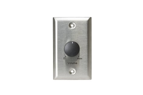 Lowell 25LVC 25W Stainless Steel Single-Gang Volume Control Attenuator Wall Plate 25LVC