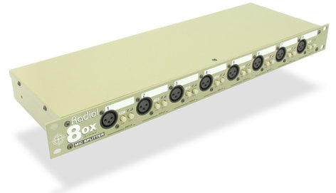 Radial Engineering OX8-R Transformer Based 8-Channel Microphone Splitter with Radial Transformers OX8-R