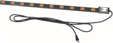 Middle Atlantic Products PDT2X1020T  20-Outlet, Single/Dual 20 Amp Thin Power Strip (J-Box on Top) PDT2X1020T