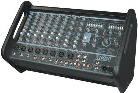 Yorkville M810-2 Powered Mixer, 10Ch, 400W M810-2