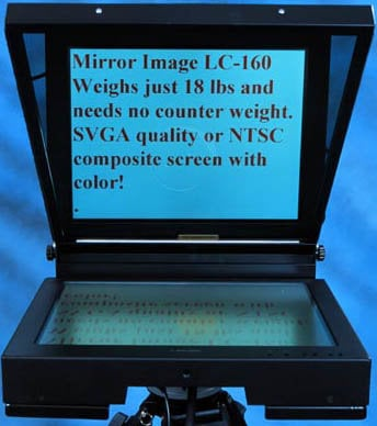 "Mirror Image Teleprompter LC160 15"" LCD Field Teleprompter (with SVGA/Composite Inputs) LC160"