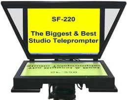 """Mirror Image Teleprompter SF220-LCD 20"""" Mid-Bright LCD Studio Prompter (with SVGA/Composite Inputs) SF220-LCD"""