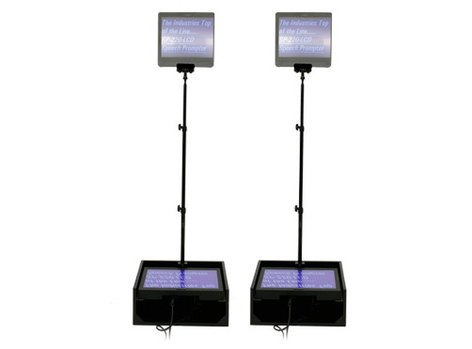 "Mirror Image Teleprompter SP-160 Dual 15"" LCD Teleprompters (for Public Speakers, with Dist. Amp) SP160-LCD"