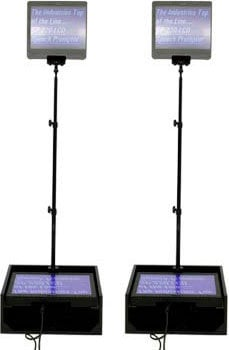 """Mirror Image Teleprompter SP190MP  Dual 19"""" LCD Teleprompters (for Public Speakers, with Dist. Amp & EZPrompt) SP190MP"""