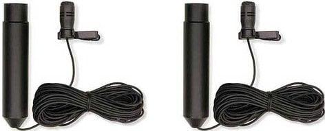 MXL Microphones FR-355K  Interview kit: Two Lavalier (1 Omni, 1 Cardioid) Mics (48V Phantom Power, with Case) FR-355K