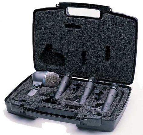 drum microphone package with 3x sm57 1x beta 52 mounts and case by shure dmk57 52 full. Black Bedroom Furniture Sets. Home Design Ideas