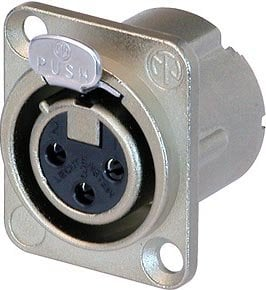 Neutrik NC3FD-LX-HA  3-Pin DLX Series Female XLR Receptacle 9Crimp Termination, Nickle Housing, Silver Contacts) NC3FD-LX-HA