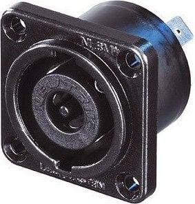 "Neutrik NLT8MP-BAG  STX Series 8-Pin Male Speakon Chassis Connector (Black Chrome Metal Housing, 1/4"" Flat Tabs) NLT8MP-BAG"