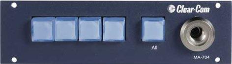 Clear-Com MA704  Program Interrupt/IFB System Master Control/Talent Access Stations MA704