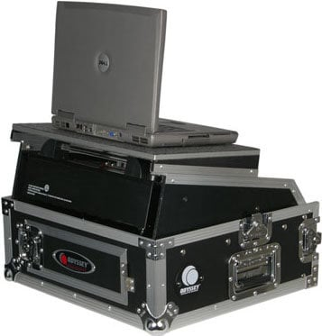 Odyssey FZGS1002  Glide-Style Mixer/Rack Case (with Sliding Laptop Tray) FZGS1002