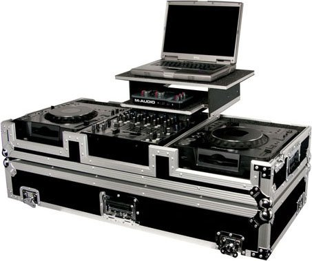 Odyssey FZGS12CDJW  Glide-Style DJ Coffin Case (with Wheels & Sliding Laptop Tray) FZGS12CDJW