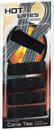 On-Stage Stands CTA6600  5-Pack of Black Velcro Cable Ties CTA6600