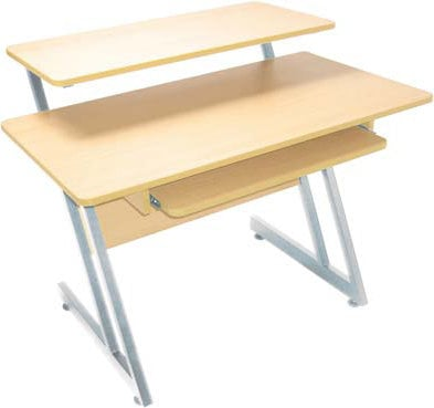 On-Stage Stands WS7500MG Wooden Workstation in Maple/Gray WS7500MG