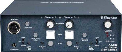 Clear-Com CS702 2 Channel Main Intercom Station CS702