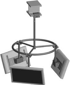 Peerless MDJ760 Circular Pipe Structure for MDJ Multi-Display Mount MDJ760