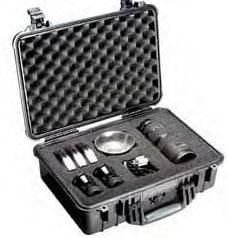 Pelican Cases 1504 Medium Black Case with Padded Dividers 1504