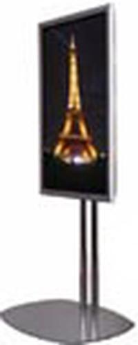 Premier Mounts PSD-TS60 Chrome Dual-Post Flatscreen Floor Stand PSD-TS60