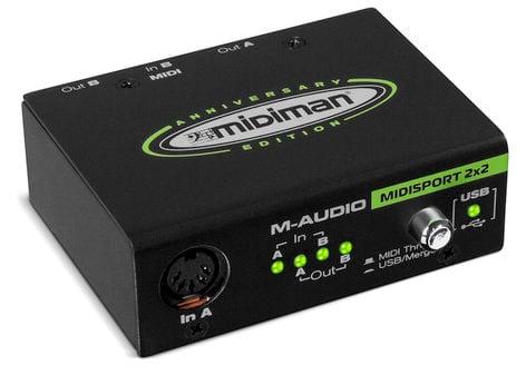 M-Audio MIDISPORT-2X2-ANNIVR USB MIDI 2x2 Interface MIDISPORT-2X2-ANNIVR