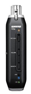 Shure SM58-X2u Cardioid Dynamic Microphone with X2u XLR-USB Signal Adapter SM58X2U
