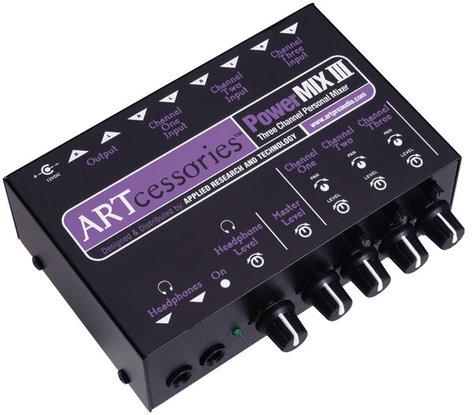 ART PowerMIX III Three Channel Personal Stereo Mixer PWRMIX-3