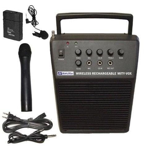 AmpliVox SW212 20W Wireless Mity-Vox Portable PA System SW212