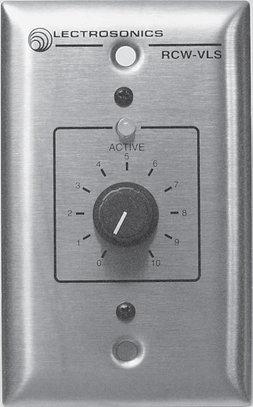 Lectrosonics RCWVLS  Wired Remote Volume Control Wall Plate (for AM8, AM16/12, AM8/4 Mixers) RCWVLS
