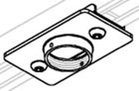 "Peerless ACC550 Unistrut 1-5/8""x1-5/8"" 12 gauge adapter ACC550"