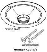Peerless ACC570 Round Ceiling Plate in Black ACC570