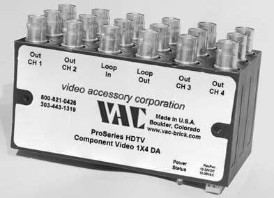 Video Accessory Corp 12-111-142  Distribution Amp, 1x2 Component HD, BNC 12-111-142