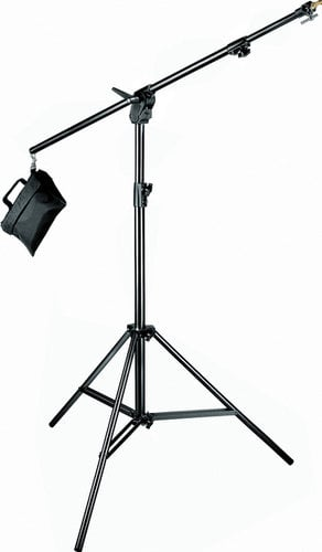 Manfrotto 420B Combination 3-Section Boom Stand in Black with Sandbag 420B