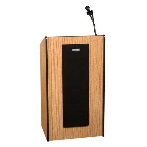 AmpliVox SW450 Wireless Presidential Plus Lectern with Lapel Microphone Transmitter SW450-LAPEL