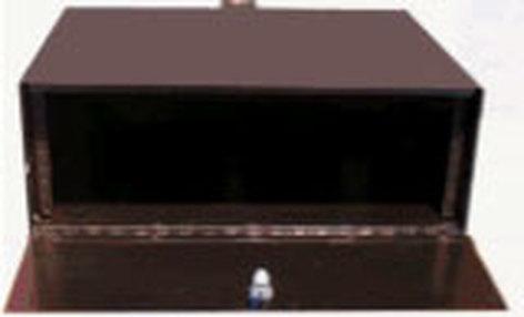 Nigel B Design NB-2RUPB  2RU Plenum Equipment Box (with Fan, Theft Deterrent System) NB-2RUPB