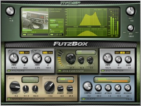 McDSP Futzbox HD Lo-Fi Distortion Effects Plug-in FUTZBOX-HD