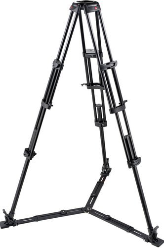 Manfrotto 545GB  2-Stage Pro Aluminum Video Tripod (Braced Legs, Floor-Level Spreader, No Center Column, 100/75mm Bowl) 545GB