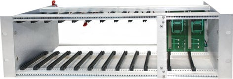 Audio Technologies Inc. RM100 Rack Frame for System 10K, holds 10 Modules and 2 PS100 units, sold separately RM100