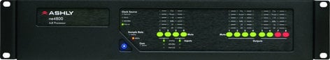 Ashly ne4800M 4x8 Network Audio Processor with 4-Channel Mic/Line Input with Software Controllable Gain & Phantom Power NE4800M
