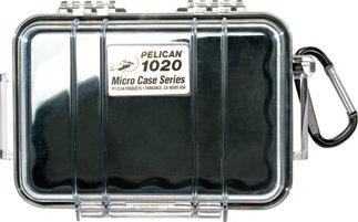 Pelican Cases PC1020CB Clear Black Micro Case PC1020CB