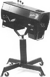 Phoebus Manufacturing MTAIIS-120/MST Mighty Arc II/S Follow Spot with Medium-Duty Stand, Lamp Not Included MTAIIS-120/MST