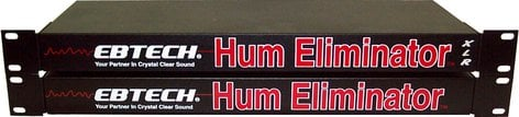 Ebtech HE8XLR-BLACK  Hum Eliminator, 8 Channel, Rackmount, XLR Connectors HE8XLR-BLACK