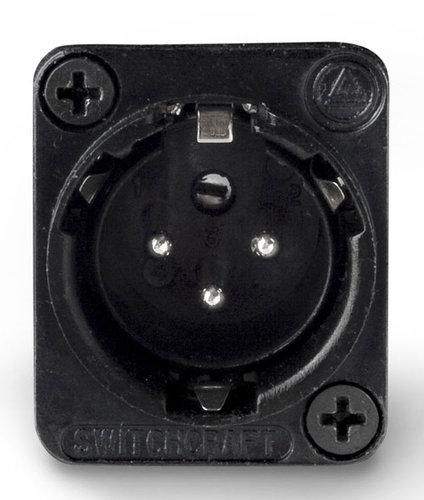 Switchcraft E3MSCB Connector XLR-M 3p Square, Black/Silver E3MSCB