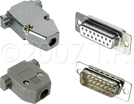 TecNec DP15B  Connector Male Body 15p D-Sub  DP15B