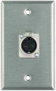 Pro Co WP1004 Plateworks Single-Gang Stainless Steel Wall Plate with 1x XLR-F Connector WP1004