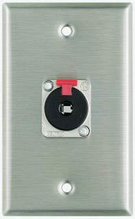 "Pro Co WP1006 Plateworks Single-Gang Stainless Steel Wall Plate with 1x Neutrik NJ3FP6 Locking 1/4"" TRS Jack WP1006"