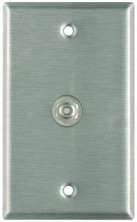 Pro Co WP1012 Plateworks Single-Gang Stainless Steel Wall Plate with 1x RCA Jack WP1012