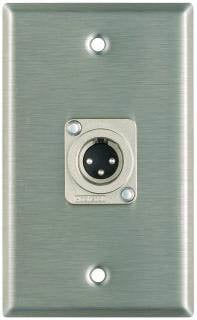Pro Co WP1014 Plateworks Single-Gang Stainless Steel Wall Plate with 1x XLR-M Connector WP1014