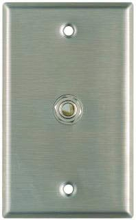 "Pro Co WP1017 Plateworks Single-Gang Stainless Steel Wall Plate with 1x 3-Conductor Open 1/4"" TRS Jack WP1017"