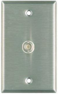 Pro Co WP1019 Plateworks Single-Gang Stainless Steel Wall Plate with 1x BNC Feed Thru Conector WP1019
