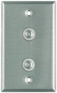 Pro Co WP1021 Plateworks Single-Gang Stainless Steel Wall Plate with 2x RCA Jacks WP1021