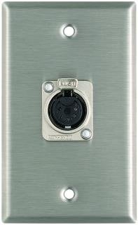 Pro Co WP1049 Plateworks Single-Gang Stainless Steel Wall Plate with 1x 5-Pin XLR-F Connector for DMX WP1049